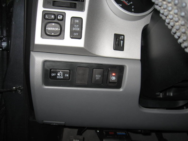 Toyota Tundra Dash Switches