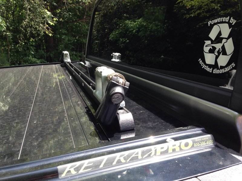 Retractable Tonneau Cover With Bicycle Fork Mounts