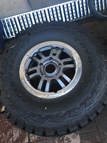 Brand New Rock Warrior Wheel And 37 12 50 Toyo Rt Sold
