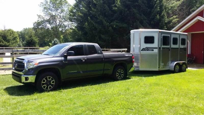 Image result for 2019 toyota tundra towing horse trailer
